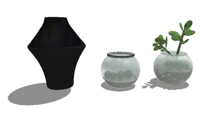 [SU模型]500个室内植物盆栽|花瓶摆件|SU模型合集(2)