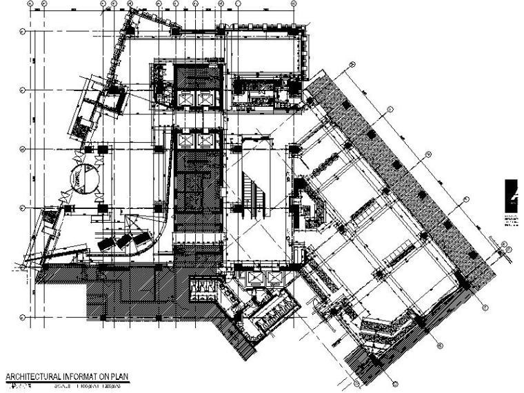 [天津]高级酒店设计平面施工图