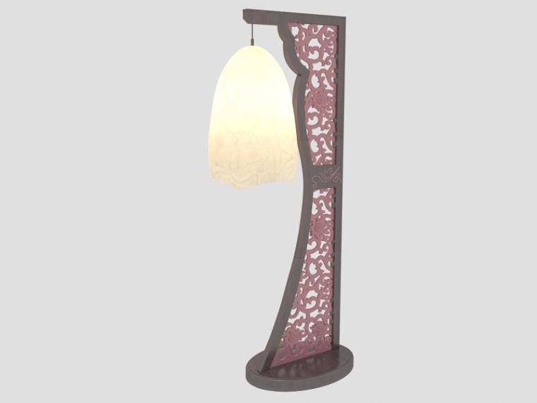 简约中式台灯3D模型下载