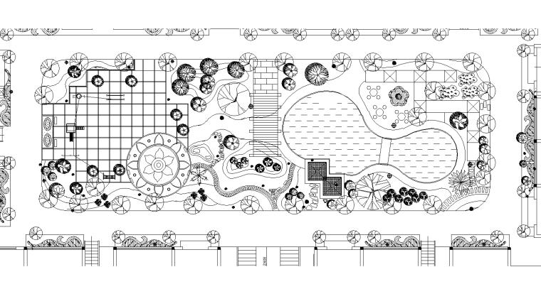 36套屋顶花园景观CAD平面图(各类型的屋顶花园)11-20