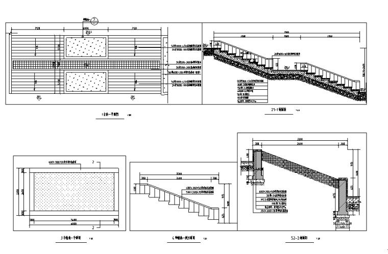 阶梯种植池施工详图