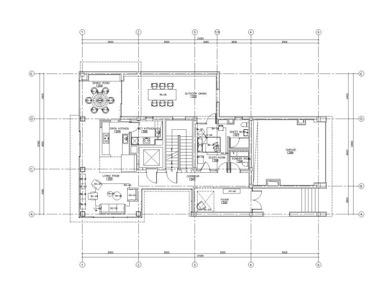 [江苏]如恩设计研究室-苏州万邦三居室样板房室内装修施工图