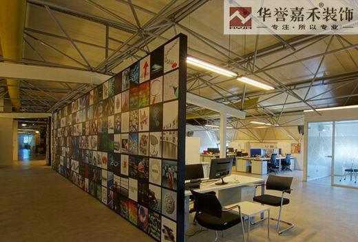 办公室墙面壁纸效果图