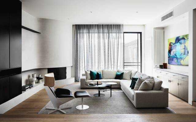 简约灰色调,软搭彩色家具