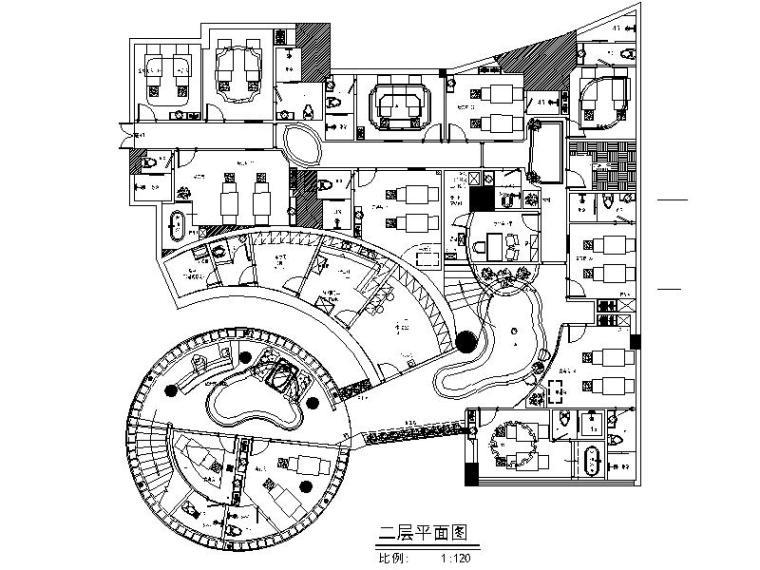 [深圳]全套的高档美容会所设计施工图