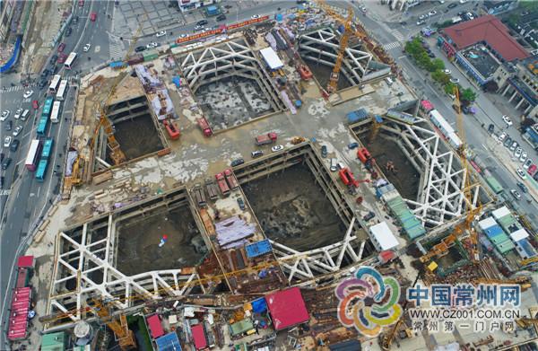 常州文化宫地块地下空间开挖顺利也在同步改造中_1