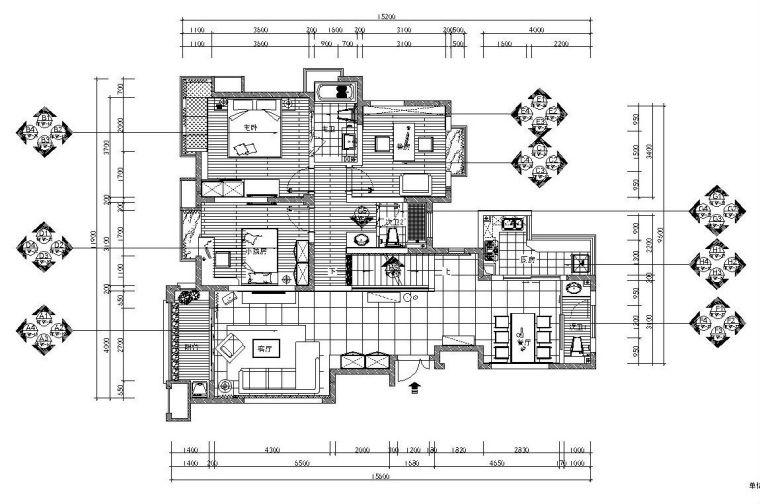 [安徽]现代简约风格复式楼层施工图设计及效果图(附ppt文案)