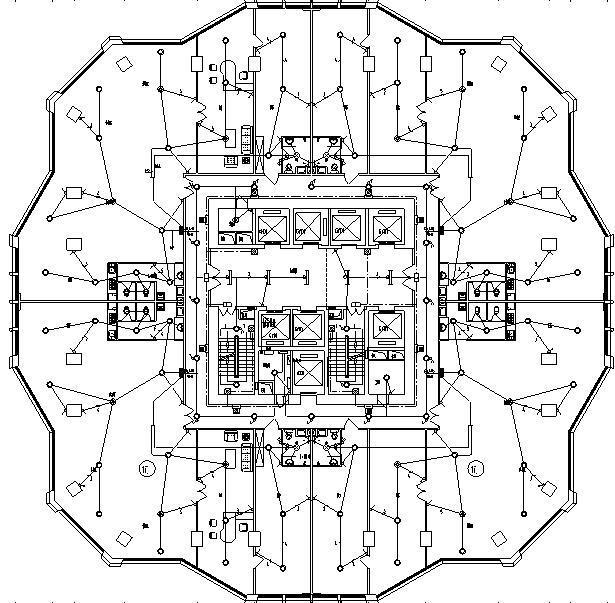云南超高层住宅公寓及配套商业电气施工图