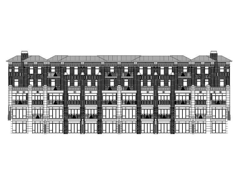 [山东]临沂北城新区新中式风格居住区建筑施工图设计