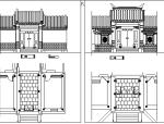 常用中式雕花门窗CAD素材图块