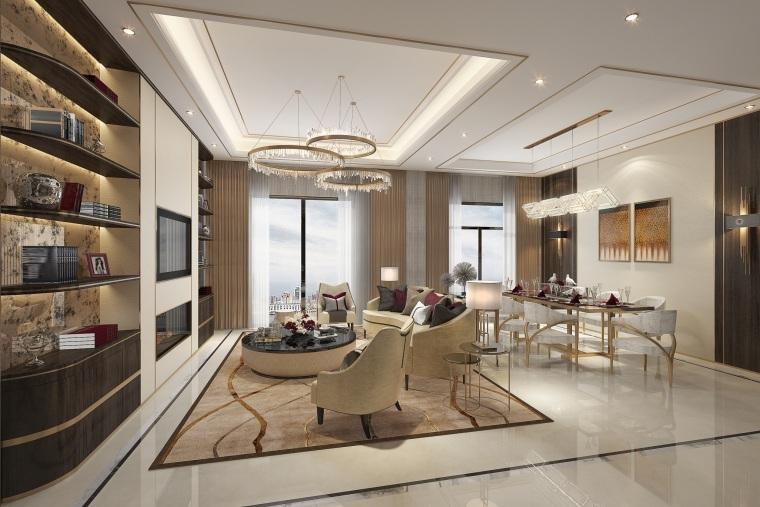 [上海]HWCD-中金海棠灣二期4套樣板間室內設計深化軟裝方案(JPG,PDF)