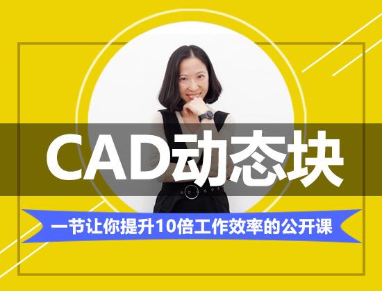 【公开课】CAD动态块一招提升10倍工作效率