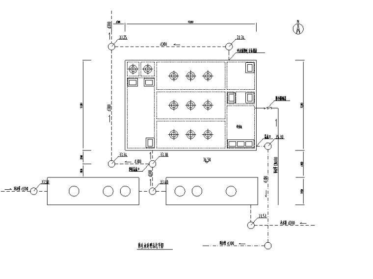 某小区中水系统处理图(CAD)