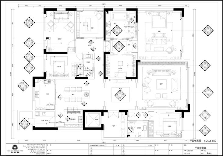 [云南]简约风格样板房施工图(附高清效果图)