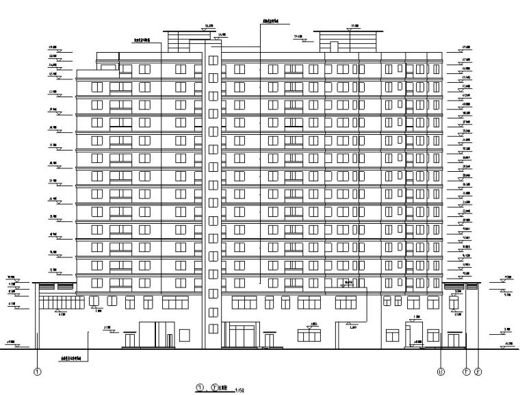 凯悦宾馆现代高层建筑施工图CAD