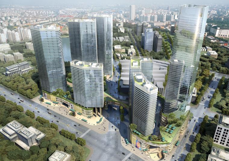 [江苏]南京绿地顶级国际城市综合体建筑设计方案文本(商业,居住,办公)