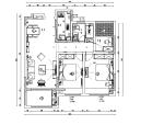 现代简约风100平米二居室住宅设计施工图(附效果图)