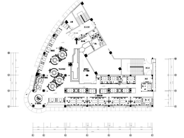 上岛西餐厅混搭风格施工图设计(附效果图)