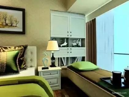 卧室惊艳地变了样还多了小资地儿,阳台飘窗改造术_2