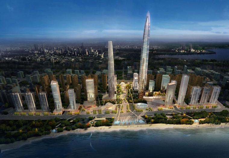 """齐鲁第一高楼369米""""海天中心""""冲出地面,主体工程全面开工"""