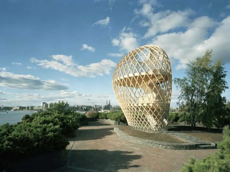 芬兰木质泡泡观景台