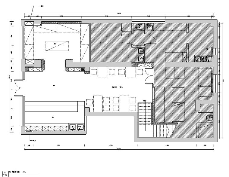 [新疆]loft风格铂晶湾咖啡厅设计施工图(附效果图)
