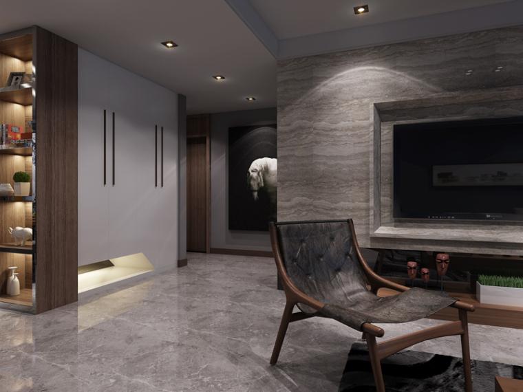 现代客餐厅3D模型下载_4