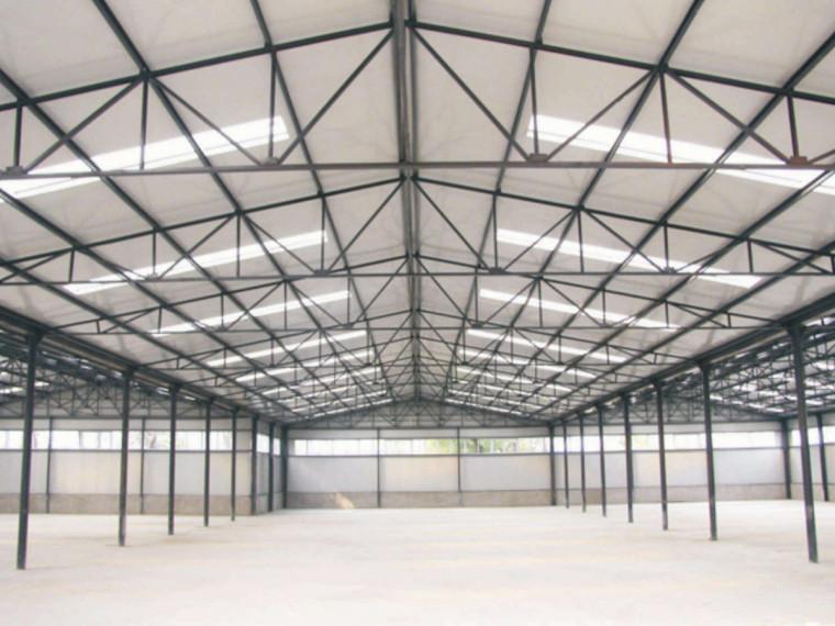 单层门式钢架结构厂房建筑工程量计算实例(含图纸)