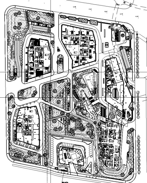 [北京]现代主义风格商业综合区景观设计全套施工图(附PDF施工图)