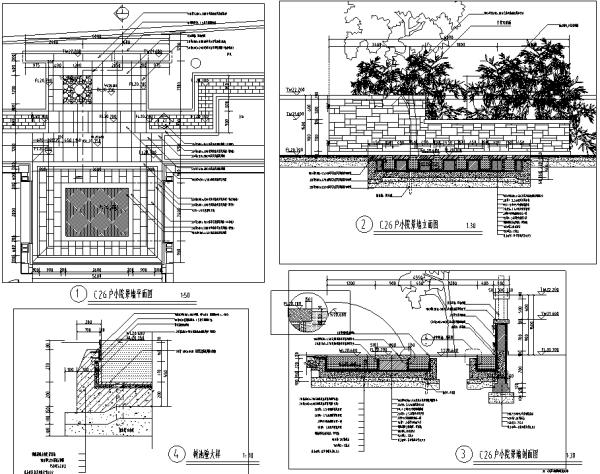 [北京]6套中式私家庭院花园景观设计施工图(附方案文本)
