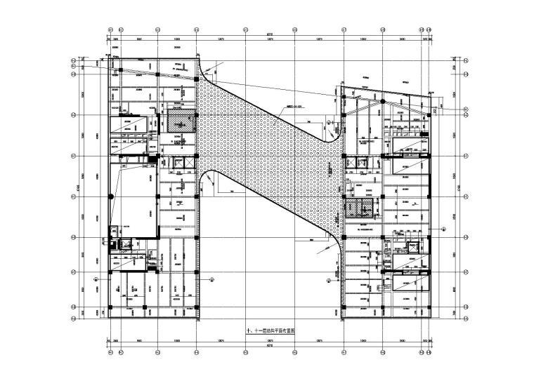 十、十一层结构平面布置图