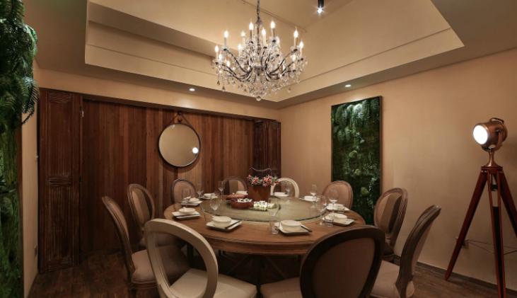 景德镇某中式餐厅室内装修设计效果图方案(33张)