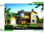有见过这么美的木结构别墅住宅效果图吗
