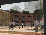 一个很精致漂亮的商业街西班牙风格模型设计.skp