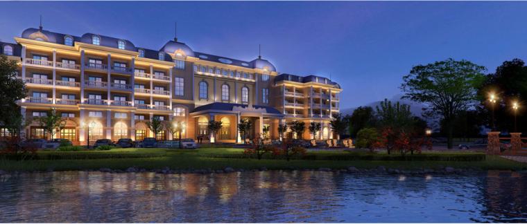 欧式风格高层巢湖五星酒店建筑设计方案文本