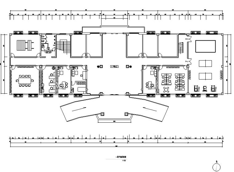 部队综合作业楼办公空间设计施工图(附效果图)