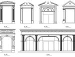 欧式构件cad大样图(门套、窗套、线板系列)