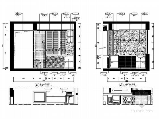 [惠州]温馨现代风格三居室样板间室内装修图(含效果) 立面