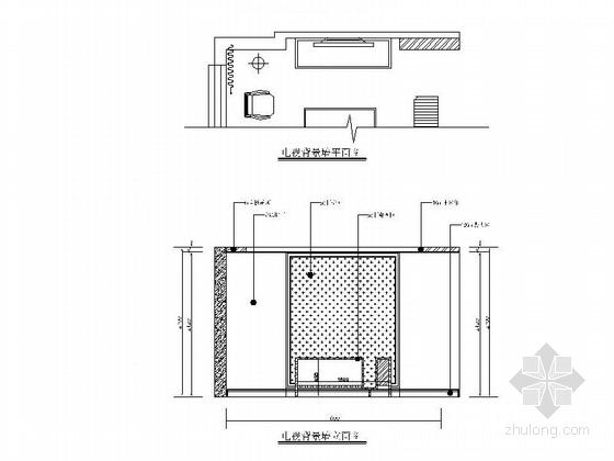 [内蒙古]田园法式乡村小型LOFT家装CAD施工图(含实景照片)-田园法式乡村小型LOFT家装CAD施工图(含实景照片)立面图
