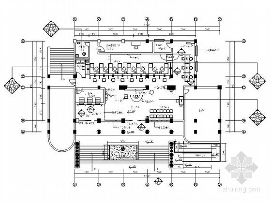 [四川]现代风格农商银行营业部室内装饰施工图(含效果)