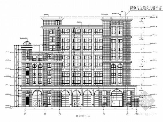 [南京]八层钢框架结构电影院结构施工图(含建施)
