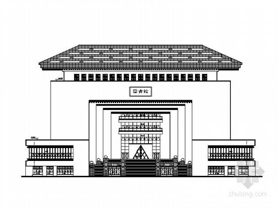 [湖北]8层现代风格大学图书馆建筑设计施工图(画图精细 参考价值高 知名设计院)