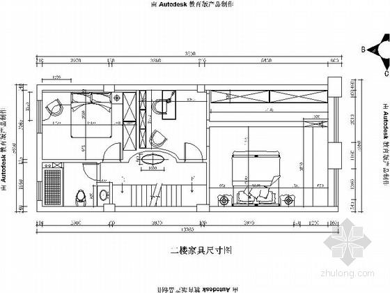 [扬州]美式豪华复古3层别墅CAD施工图(含效果图)