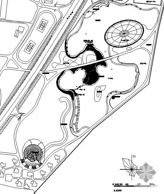 大连某生态旅游园景观设计施工图