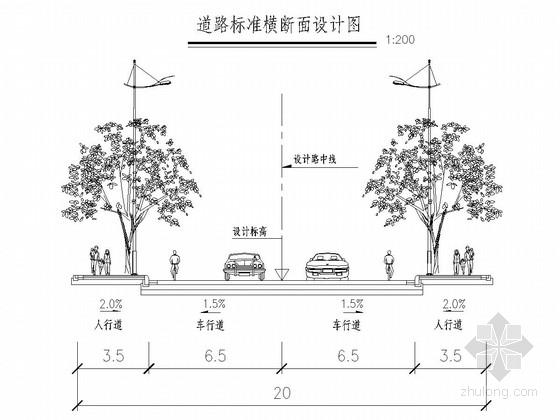 20m宽城市支路工程全套施工图(62张 道路 排水)