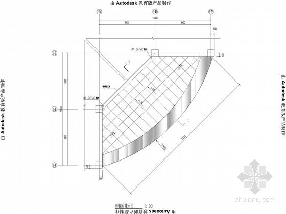 网架雨篷带显示屏结构施工图
