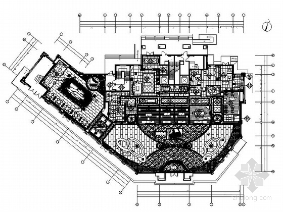 [辽宁]精装景观公寓售楼处装修CAD施工图