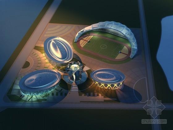 体育馆鸟瞰3D模型下载