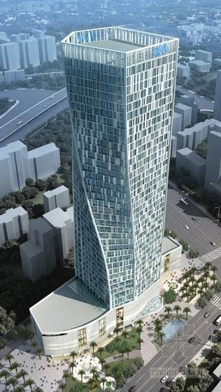 [广东]39层框筒金融发展大厦结构施工图(曲面造型)