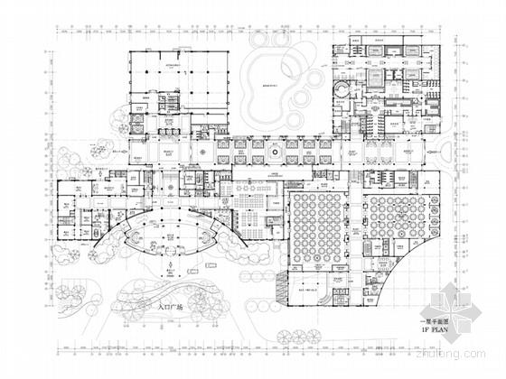 [福建]新中式精致柔美五星级大酒店设计方案(含效果图)
